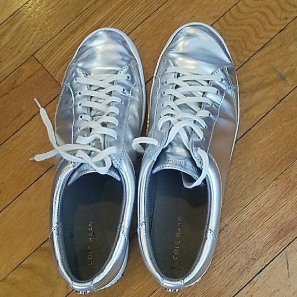 Cole Haan Shoes | Silver Sneakers